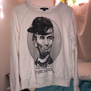 Abraham Lincoln (but cool) crew neck Small